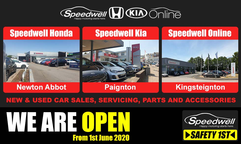 Speedwell are re-opening June 1st with safety first in mind