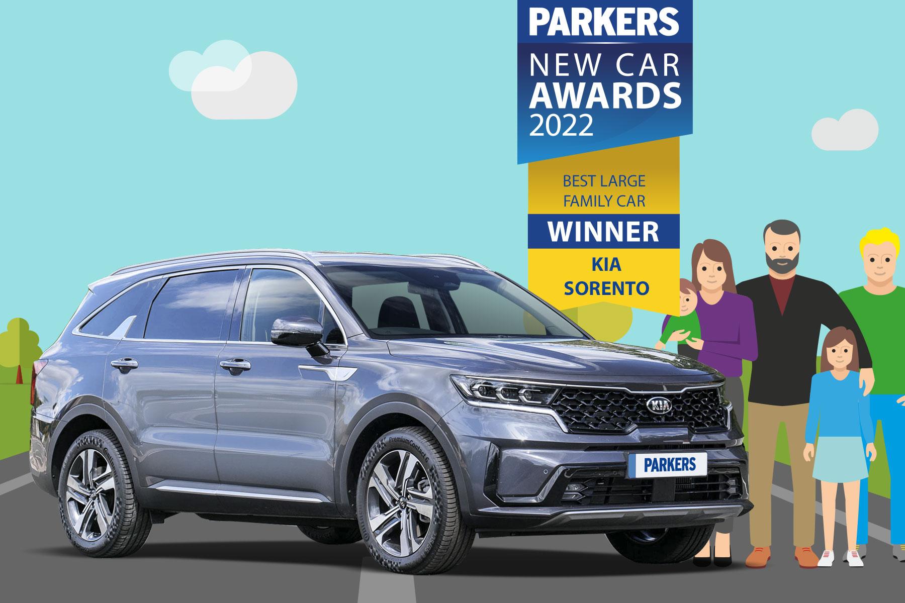 SORENTO WINS 'BEST LARGE FAMILY CAR'
